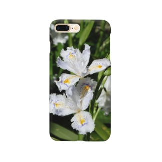日本の花:ヒメシャガ Iris gracilipes A. Gray Smartphone cases
