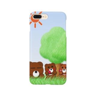 本音熊ふぁみりー Smartphone cases