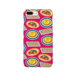 とっても中華なiPhoneケース(ショッキングピンク) Smartphone cases