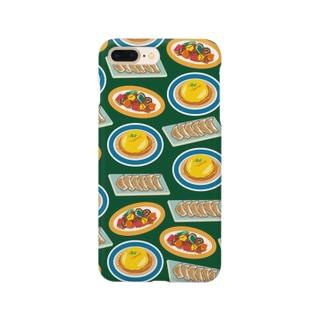 とっても中華なiPhoneケース(渋緑) Smartphone cases