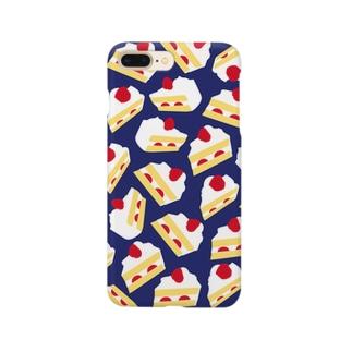 ショートケーキiPhoneケース(ネイビー) Smartphone cases