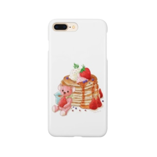 パンケーキとテディベア Smartphone cases