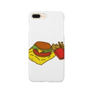ネコックさんのハンバーガー Smartphone cases