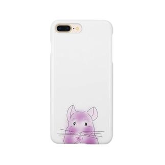 チンチラ バイオレット Smartphone cases