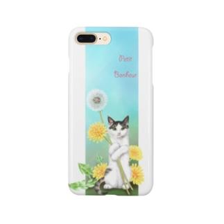 タンポポとサバトラ子猫② Smartphone cases