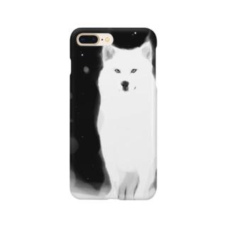 水墨おおかみ Smartphone cases