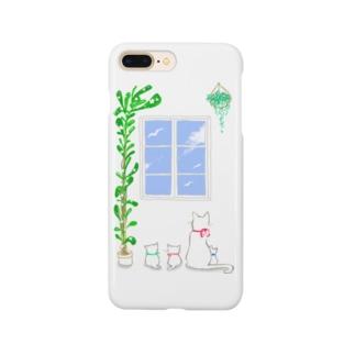 窓際の物語シリーズ【白猫親子】 Smartphone cases