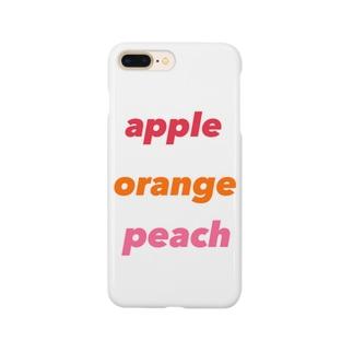 apple    orange   peach Smartphone cases