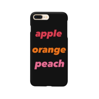 apple  orange  peach  黒 Smartphone cases
