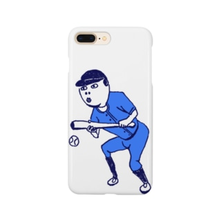 この夏おすすめ!野球デザイン「バント」<文字なし> Smartphone cases