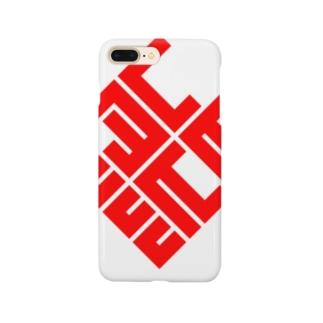 「熊」(赤) Smartphone cases