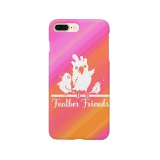 鳥/Feather Friendsピンク Smartphone cases