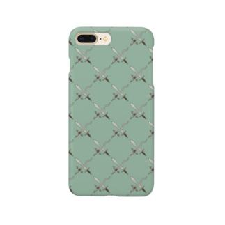 剣カッチン【ひし形】 ブルーグレー Smartphone cases