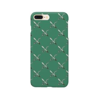 剣カッチン【ひし形】 グリーン Smartphone cases