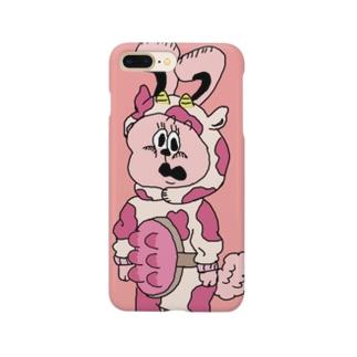 牛のコスプレうさぎ Smartphone cases
