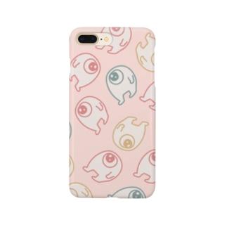 増殖どどめきくんピンク Smartphone cases