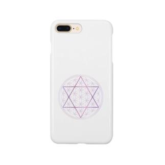 フラワーオブライフ(神聖幾何学) Smartphone cases