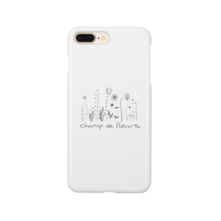oka__のモノクロ Smartphone cases