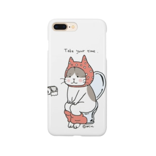 トイレねこ 桃色 Smartphone cases