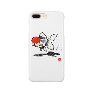 【金魚】 丹頂~カッコイイ顏してみた~ Smartphone cases
