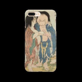 笠岡コンテンツカンパニーの葛飾北斎 春画 妖怪 Smartphone cases
