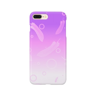 FUWAFUWA FEATHERS -Pink Ver- Smartphone cases