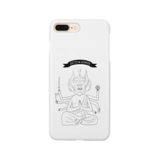 馬頭観音(黒) Smartphone cases