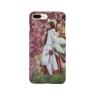 九尾狐と紅葉 Smartphone cases
