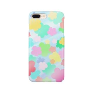 クリスタルフラワー(花柄) Smartphone cases