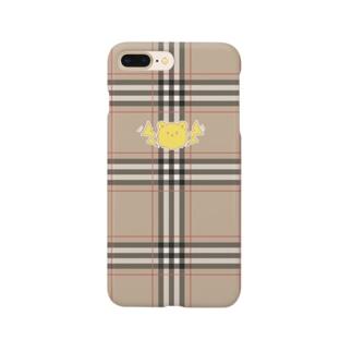 黄色いクマちゃんでフェミニストアピールができるiPhoneケース チェック Smartphone cases