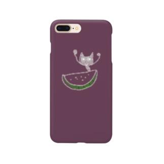 ハッピースイカキャットなスマホケース Smartphone Case