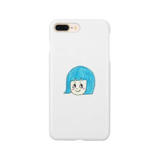 青髪のおんなのこ Smartphone cases