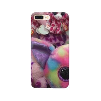 ピンクの人形 Smartphone cases