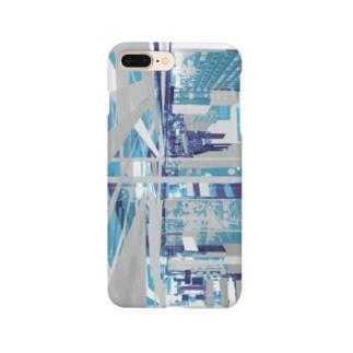 strange city blue Smartphone Case