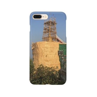 金箔を貼る工事中のゴールデンロック ミャンマー Smartphone cases