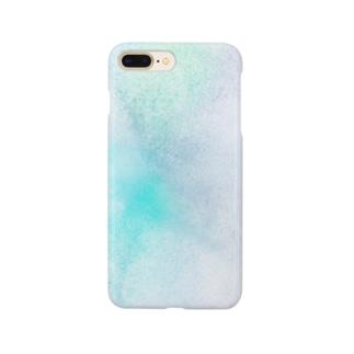 青緑色の光 Smartphone cases