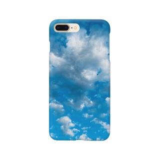 見上げた空の蒼さ Smartphone cases