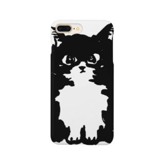 The Fluffy Cat スマートフォンケース