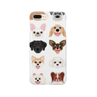 いろいろな犬種のかわいい顔 Smartphone cases