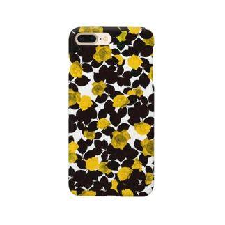 白磁に黄金のバラ Smartphone cases