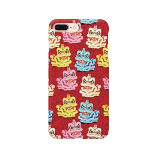 POSSESSION STREET-SUZURI店の獅子舞-Red・スマホケース Smartphone cases