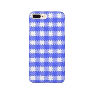 ギンガムチェック青 Smartphone Case
