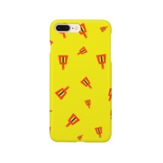 よさこいの鳴子だらけ(黄色) Smartphone cases