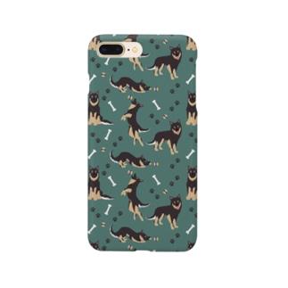 クロ深緑 Smartphone cases