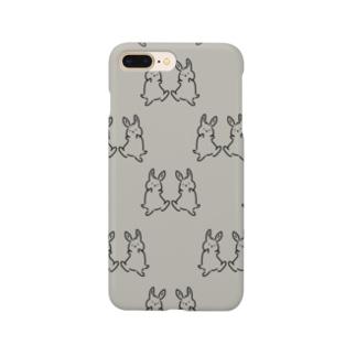 踊るうさぎ【総柄ver.】 Smartphone cases