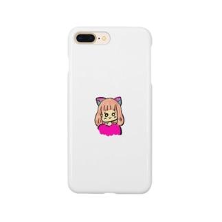 猫女の子 Smartphone cases