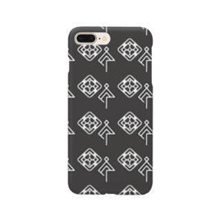 謎柄(眼と傘) Smartphone cases