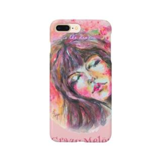 夢で会いましょう🌸ピンクiPhoneカバー Smartphone cases