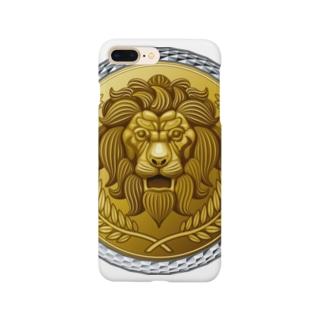 ゴージャスなライオンのレリーフ Smartphone cases