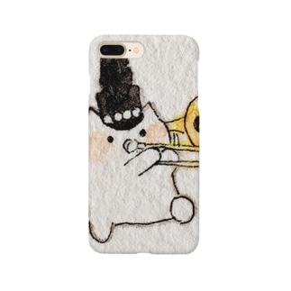 トロンボーンねこさん Smartphone cases